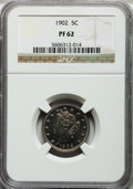Proof Liberty Nickels: , 1902 5C PR62 NGC. NGC Census: (20/415). PCGS Population (19/443).Mintage: 2,018. Numismedia Wsl. Price for problem free NG...