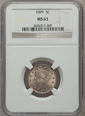 Liberty Nickels: , 1899 5C MS63 NGC. NGC Census: (123/447). PCGS Population (168/576).Mintage: 26,029,032. Numismedia Wsl. Price for problem ...