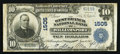 National Bank Notes:Pennsylvania, Williamsport, PA - $10 1902 Plain Back Fr. 624 The West Branch NBCh. # 1505. ...