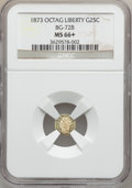 California Fractional Gold, 1873 25C Liberty Octagonal 25 Cents, BG-728, R.3, MS66+ NGC....