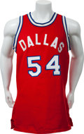 Basketball Collectibles:Uniforms, 1972-73 Mike Maloy Game Worn Dallas Chaparrals Jersey. ...