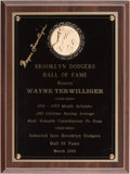 Baseball Collectibles:Others, 2001 Wayne Terwilliger Brooklyn Dodgers Hall of Fame Signed Personal Trophy. ...