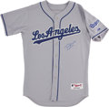 Baseball Collectibles:Uniforms, Tommy Lasorda Signed Los Angeles Dodgers Jersey. ...