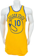 Basketball Collectibles:Uniforms, 1972-73 Charles Johnson Game Worn Golden State Warriors Jersey. ...