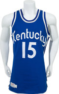 Basketball Collectibles:Uniforms, 1970-74 Kentucky Colonels Game Issued Jersey....