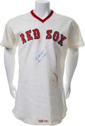 Baseball Collectibles:Uniforms, 1976 Fergie Jenkins Game Worn Boston Red Sox Jersey....