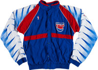 35b3c2bf1 1988-94 New Jersey Nets Game Worn Warm Up Suit With Jayson Williams Lot of
