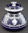 Ceramics & Porcelain, American:Modern  (1900 1949)  , A LENOX PORCELAIN CANISTER WITH SILVER OVERLAY . Circa 1900. Marks:L (within laurels), LENOX . 6-1/2 inches high (1...