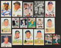 Autographs:Post Cards, Baseball Legends Signed Postcards and Cards Lot Of 17....
