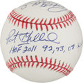 Autographs:Baseballs, Pat Gillick Dual Signed Baseball With Lengthy Inscriptions....