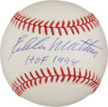 "Autographs:Baseballs, Eddie Mathews ""HOF 78"" Single Signed Baseball. ..."