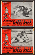 "Movie Posters:Sexploitation, Faster, Pussycat! Kill! Kill! (Eve Productions, 1965). Lobby Cards(2) (11"" X 14""). Sexploitation.. ... (Total: 2 Items)"