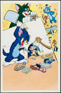 "Movie Posters:Animation, Tom and Jerry Stock (MGM, 1963). One Sheet (27"" X 41""). Animation.. ..."