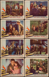 """Night Plane from Chungking (Paramount, 1943). Lobby Card Set of 8 (11"""" X 14""""). War. ... (Total: 8 Items)"""