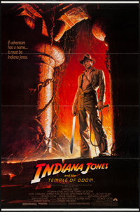 """Indiana Jones and the Temple of Doom (Paramount, 1984). One Sheet (27"""" X 41"""") Style A. Adventure"""