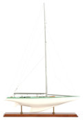 Maritime:Decorative Art, TWO SCALE MODELS OF THE AMERICA'S CUP YACHTS COURAGEOUS ANDWENDAMEEN . Courageous: 36 x 24 x 6 inches (... (Total: 2Items)