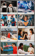 """Movie Posters:Action, Superman III (Warner Brothers, 1983). Lobby Card Set of 8 (11"""" X 14""""). Action.. ... (Total: 8 Items)"""