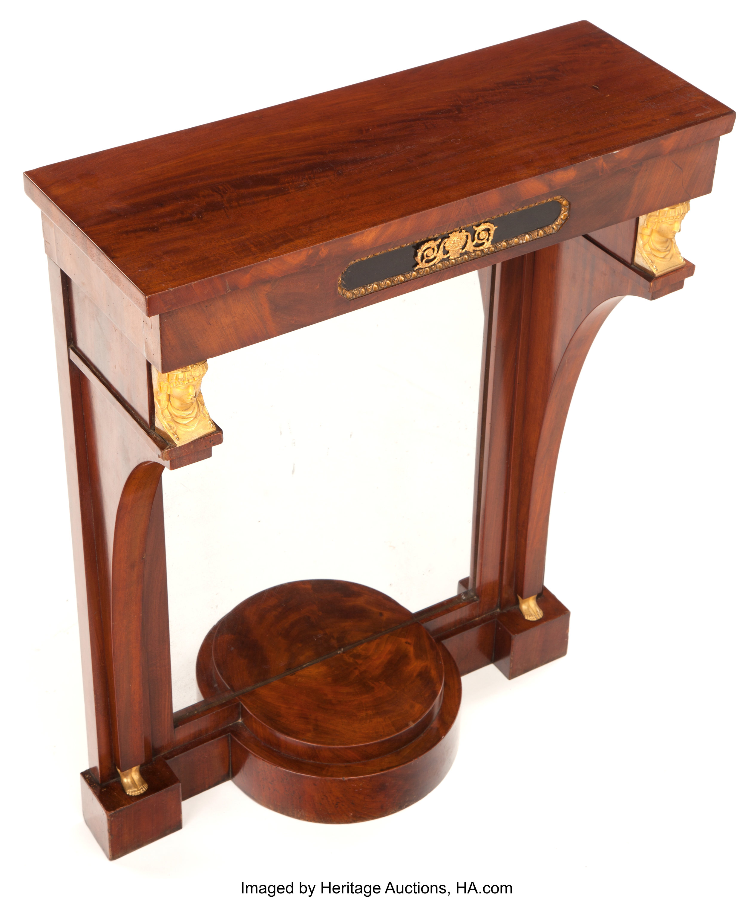 Pleasing A French Empire Style Mahogany And Gilt Bronze Console Table Pabps2019 Chair Design Images Pabps2019Com