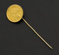 Estate Jewelry:Stick Pins and Hat Pins, 1852 Gold Coin Stick Pin. ...