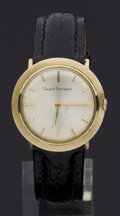Timepieces:Wristwatch, Girard Perregaux 14k Gold Manual Wind Wristwatch. ...