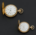 Timepieces:Pocket (post 1900), Two Elgin 14k Gold Hunter's Case Pocket Watches. ... (Total: 2Items)