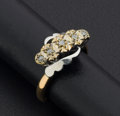 Estate Jewelry:Rings, Two-Tone Gold Diamond Ring. ...