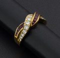 Estate Jewelry:Rings, Ruby & Diamond 18k Gold Ring. ...
