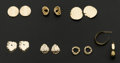 Estate Jewelry:Earrings, A Lot Of Seven 14k Gold Earrings. ... (Total: 7 Items)