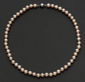 Estate Jewelry:Pearls, Pink Pearl Necklace. ...