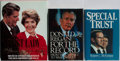 Books:Biography & Memoir, [Political Biographies]. Group of Three Signed First Edition Booksfrom the Reagan Era. Various publishers. Nancy Reagan sig...(Total: 3 Items)