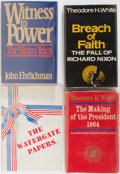 Books:Americana & American History, [Presidential Politics]. Group of Four First Edition Books, ThreeSigned. Various publishers. Breach of Faith, Making of t...(Total: 4 Items)