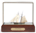 Maritime:Decorative Art, GROUP OF SMALL SCALE SHIP MODELS AND DIORAMAS. American MarineModel Gallery, Salem, Massachusetts. 14 inches in length (35....(Total: 5 Items)