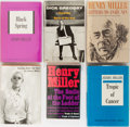Books:Literature 1900-up, Henry Miller and Others. Group of Six Inscribed Books. Variouspublishers and editions. All signed and inscribed by author. ...(Total: 6 Items)