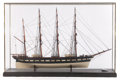 Maritime:Decorative Art, SCALE SHIP MODEL OF THE BARQUE LOCH TORRIDON. American Marine ModelGallery, Salem Massachusetts. 24 x 39-1/4 x ...