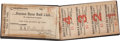 Baseball Collectibles:Tickets, 1903 Boston Pilgrims (Red Sox) Complete Season Ticket Book....