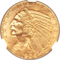 Indian Half Eagles, 1909 $5 MS64+ NGC....