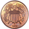 Proof Two Cent Pieces, 1873 2C Closed 3 PR65 Red and Brown PCGS Secure. CAC....