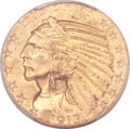 Indian Half Eagles, 1913-S $5 MS62 PCGS....