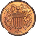 Two Cent Pieces, 1871 2C MS66 Red and Brown NGC....