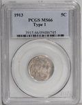 Buffalo Nickels: , 1913 5C Type One MS66 PCGS. PCGS Population (1354/342). NGC Census:(1048/222). Mintage: 30,993,520. Numismedia Wsl. Price:...