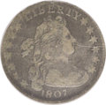 Early Dimes: , 1807 10C VG8 NGC. JR-1. NGC Census: (5/223). PCGS Population(6/271). Mintage: 165,000. Numismedia Wsl. Price: $442. (#4480...