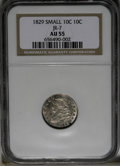Bust Dimes: , 1829 10C Small 10C AU55 NGC. JR-7. NGC Census: (15/161). PCGSPopulation (11/131). Mintage: 770,000. Numismedia Wsl. Price:...