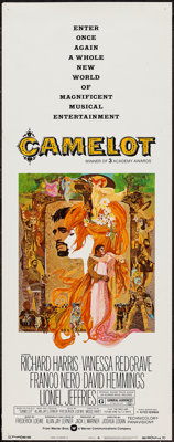 """Camelot (Warner Brothers-Seven Arts, R-1973). Insert (14"""" X 36""""). Musical"""