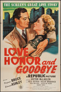 """Movie Posters:Comedy, Love, Honor and Goodbye (Republic, 1945). One Sheet (27"""" X 41"""").Comedy.. ..."""