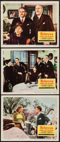 """Movie Posters:Hitchcock, Rebecca (20th Century Fox, R-1956). Autographed Lobby Cards (3)(11"""" X 14""""). Hitchcock.. ... (Total: 3 Items)"""