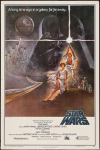 """Star Wars (20th Century Fox, R-1982). Video One Sheet (27"""" X 41"""") Heavy Stock Style A. Science Fiction"""