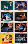 """Movie Posters:Animation, Bambi (Buena Vista, R-1970s). Lobby Card Set of 8 (11"""" X 14""""). Animation.. ... (Total: 8 Items)"""