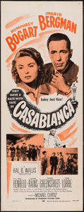 "Movie Posters:Academy Award Winners, Casablanca (Dominant Pictures, R-1956). Insert (14"" X 36""). Academy Award Winners.. ..."