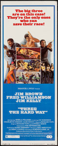"Movie Posters:Blaxploitation, Three the Hard Way (Allied Artists, 1974). Insert (14"" X 36"").Blaxploitation.. ..."