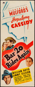 """Movie Posters:Western, Bar 20 Rides Again (Paramount, 1935). Insert (14"""" X 36""""). Western.. ..."""